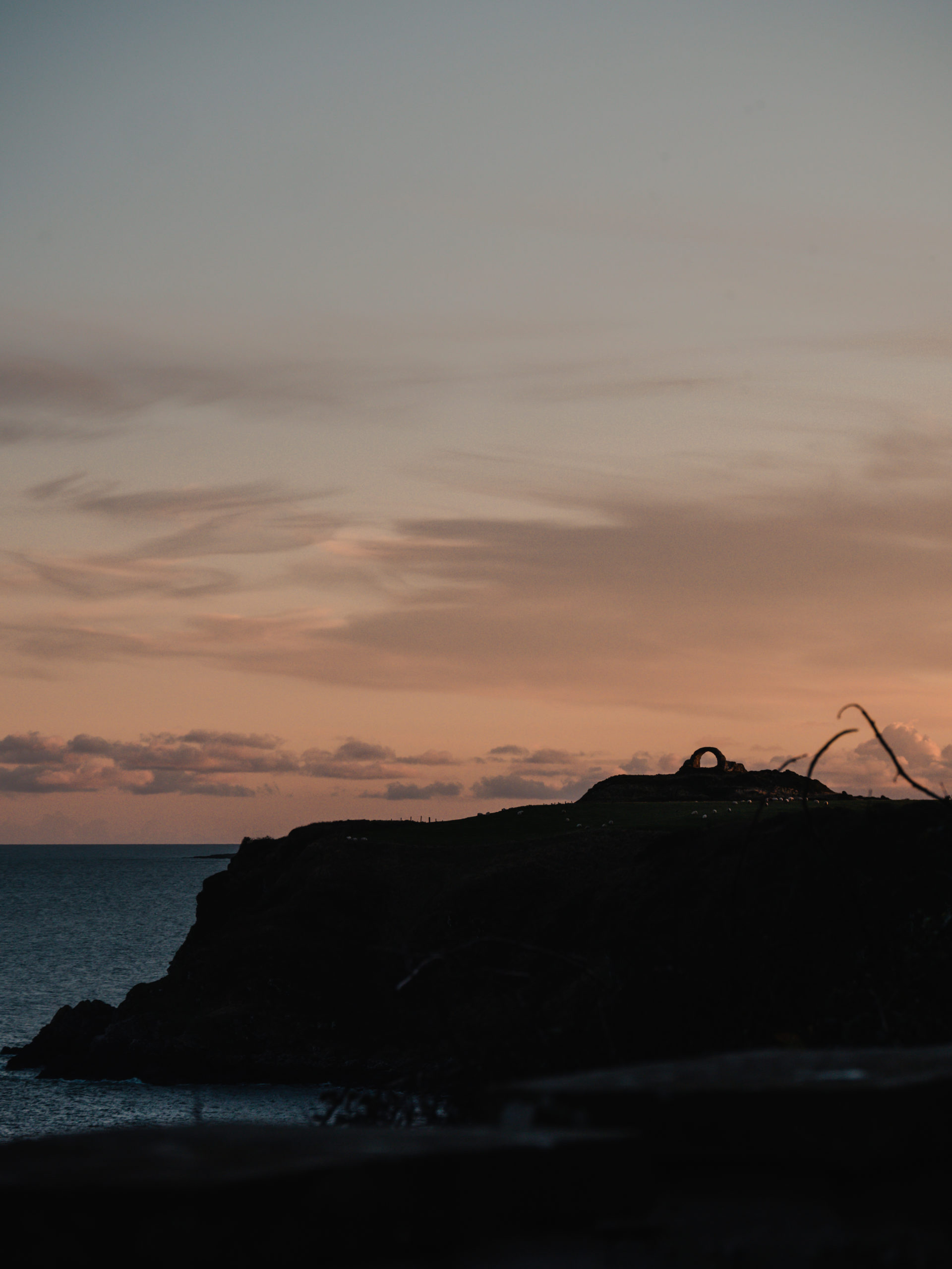 cruggleton castle scotland écosse promenage coucher de soleil mer