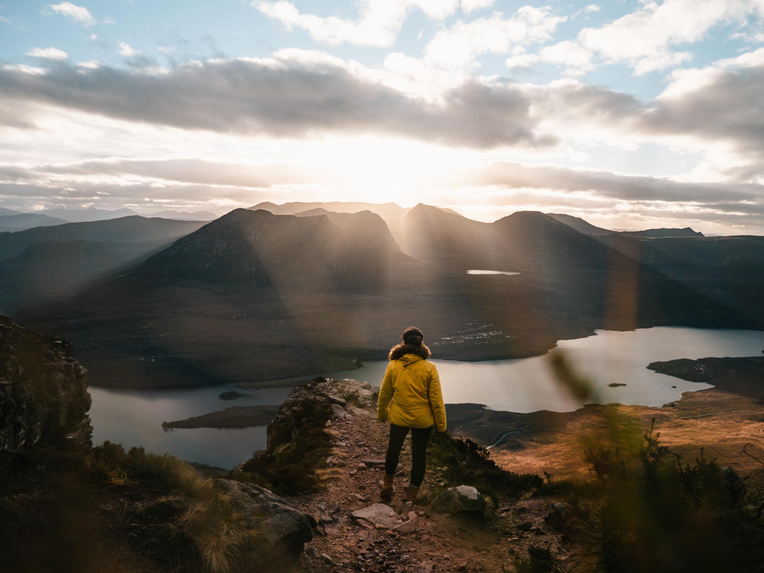 stac pollaidh voyage écosse randonnée solo sunset
