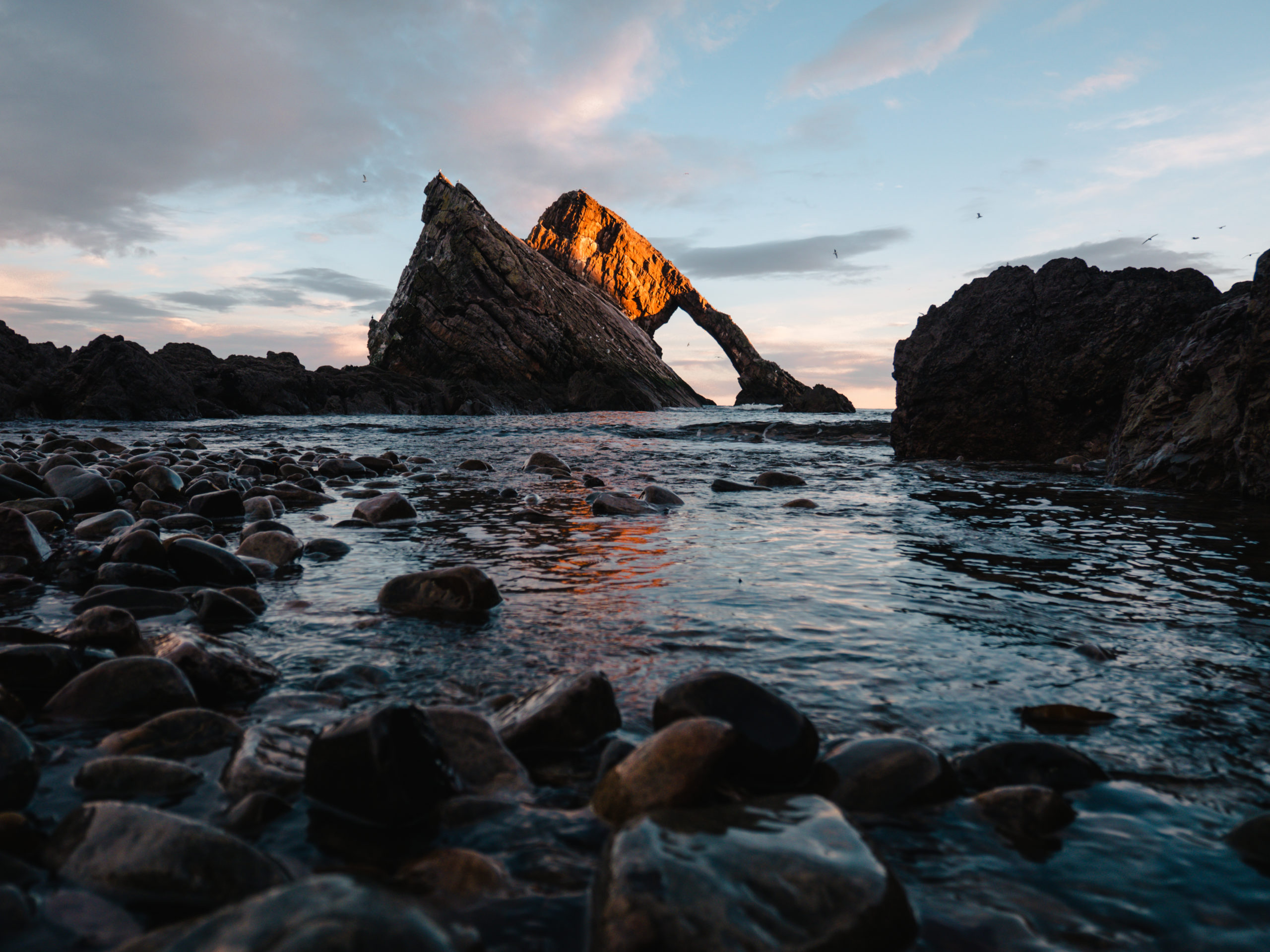 bow fiddle rock écosse mer vue ballade highlands