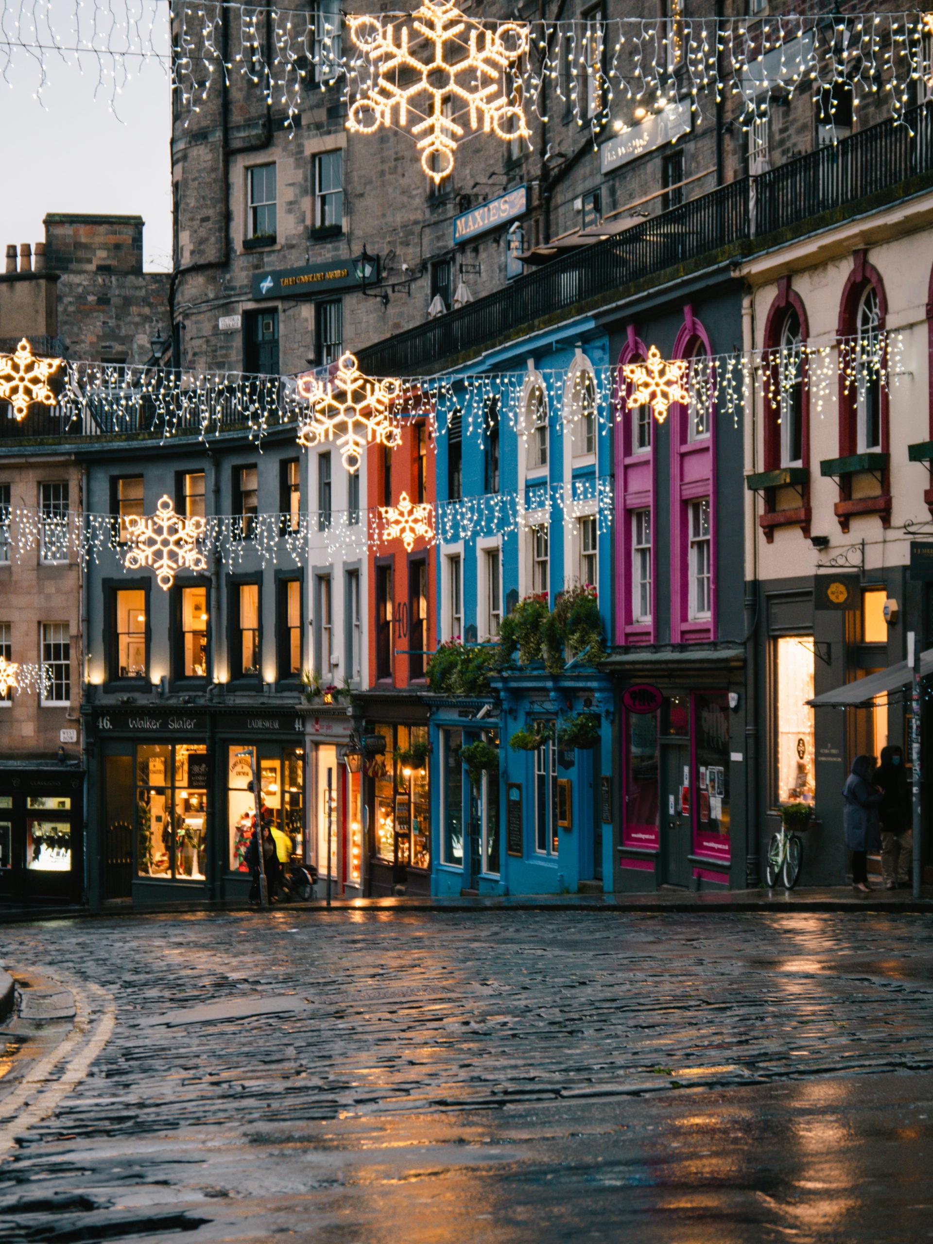 edimbourgh ville rue victoria street maison colorée