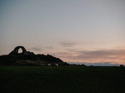cruggleton castle scotland écosse promenage coucher de soleil